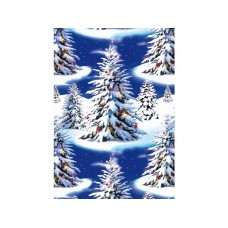 Hedlunds OF SWEDEN Julpapper 70cmx20m Blue Trees (rulle om 20 m)