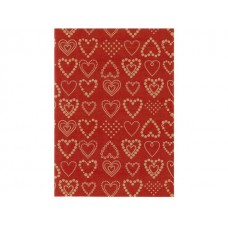 Hedlunds OF SWEDEN Julpapper Dotted hearts (rulle om 165 m)
