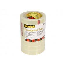 Scotch® Kontorstejp 550 transp. 66mx19mm (rulle om 66 m)