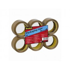 Scotch® Packtejp 371 PP 66mx38mm brun (fp om 6 rullar)