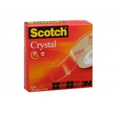 Scotch® Kontorstejp Crystal 33mx 19mm (rulle om 33 m)
